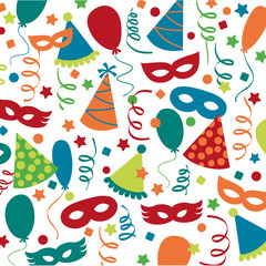 Carnival an party decorations pattern
