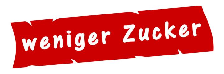 ab5 AufdruckBanner - weniger Zucker - rot 3zu1 g2975