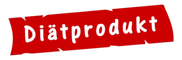 ab6 AufdruckBanner - Diätprodukt - rot 3zu1 g2976