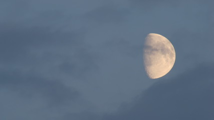 Tele shot of moon before the supermoon