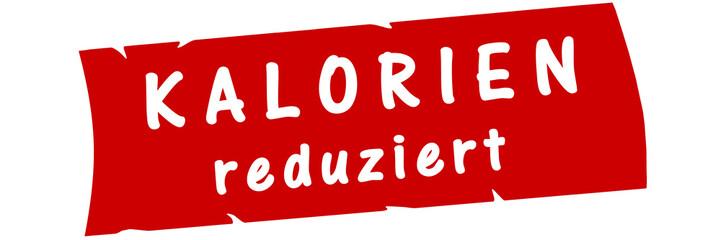 ab13 AufdruckBanner - Kalorien reduziert - rot 3zu1 g2983
