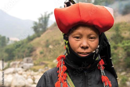 obraz PCV Kobieta z Red Dao mniejszości w Sapa, Wietnam
