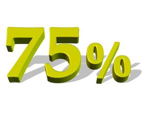 Gölgeli sarı renkli %75