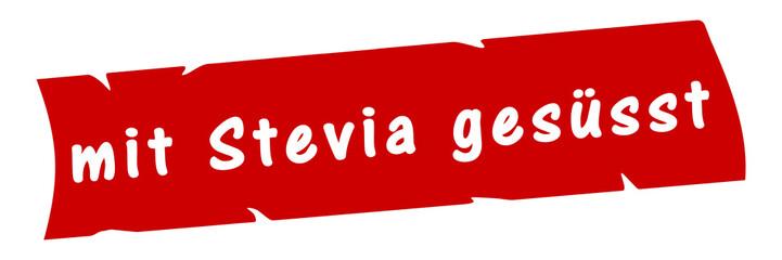 ab15 AufdruckBanner - mit Stevia gesüsst - rot 3zu1 g2985