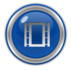 film circular icon on white background