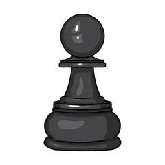 Vector Single Cartoon Chess Figure - Pawn