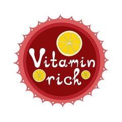Vitamin rich badge vector