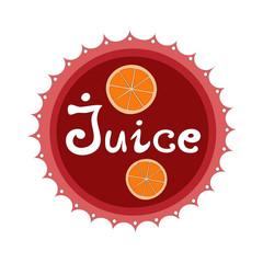 Juice badge vector