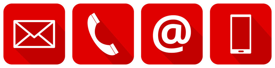 Roter Kontakt Icon