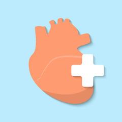 Vector flat heart icon.