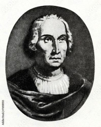 Fotobehang Centraal-Amerika Landen Christopher Columbus, Italian explorer and navigator