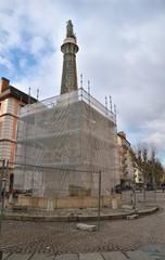 statue des éléphants à Chambéry en travaux exceptionnels