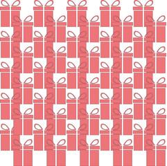 gift box web icon, flat design. Seamless pattern. Vector