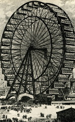 Chicago Exposition 1893 - The Ferris Wheel