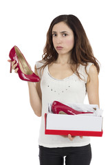 Woman unhappy about the gift