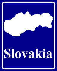 silhouette map of Slovakia