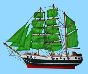 Modell eines Segelschiffs