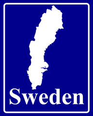 silhouette map of Sweden