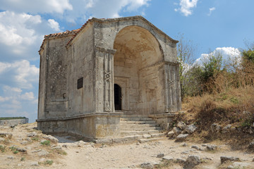 Mausoleum of Dzhanike-Khanym, city-fortress Chufut-Kale, Crimea