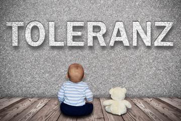 Kleiner Junge und sein Teddy - Toleranz