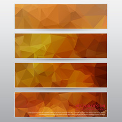 Design Abstract Banner, Vector Work