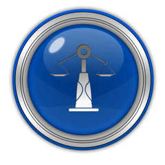 Law circular icon on white background