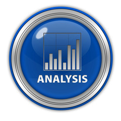 Data analysis circular icon on white background