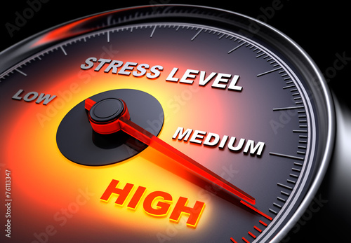 Leinwanddruck Bild Stress Level 1