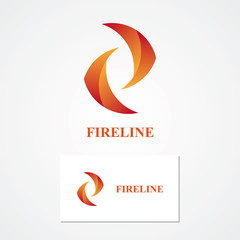 Abstract fire logo