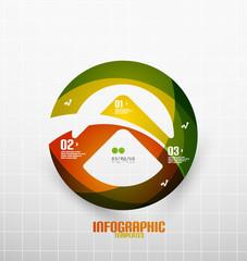 Modern fresh wave business infographics