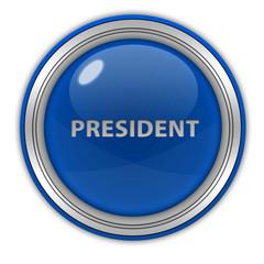 President circular icon on white background