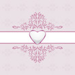 Abstract ornamental light purple background with heart