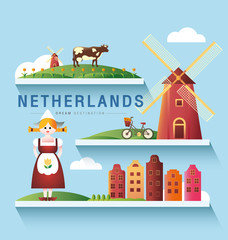 Netherlands and Amsterdam, windmill ,Destination