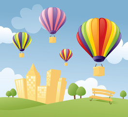 Balloons in the City