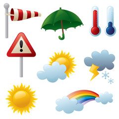 Weather related icons.