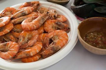 Shrimp with Salt and sea food