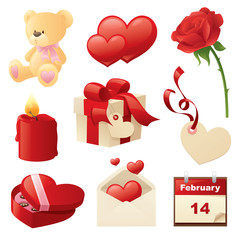 Valentine's Day Icons.