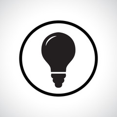 Light bulb flat icon.