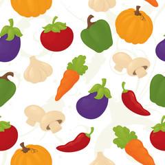 Seamless vegetable wallpaper.
