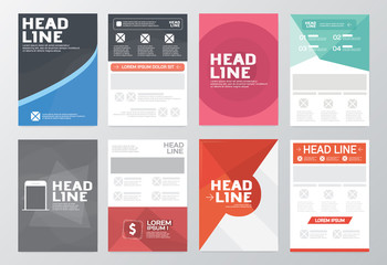Vector Business Brochure Flyer design Layout template / A4 Size