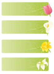Floral Spring Banners