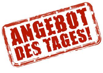 ANGEBOT des TAGES!, Stempeleffekt rot