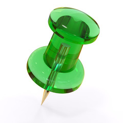 Green push pin