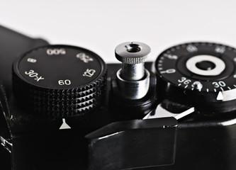 part of a retro film camera