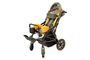 children's wheelchair isolated
