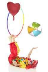 Coordinated Clown Stunts