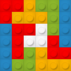 Color constructor blocks seamless background
