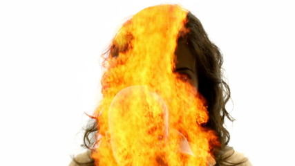 Woman of fire doll creepy