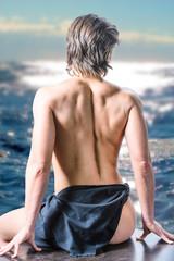 Woman at shore