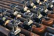 Leinwanddruck Bild - Oil and gas pipe line valves